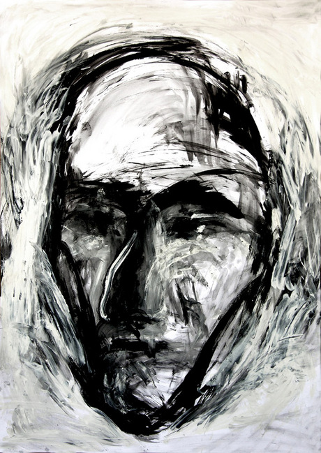 Abakanowicz, Faces which are not portraits, No 20, 2004-05, gouache on paper, 90 x 64 cm, NON 44 760
